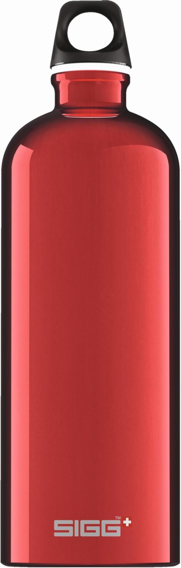 SIGG Trinkflasche Alu Traveller Red 1l