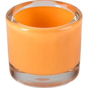 Windlicht Glas 5,7cm, orange