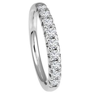 TIETZIAN HÉRITIER             Ring 585 Weißgold mit 9 Diamanten, zus. ca. 0,50 ct.