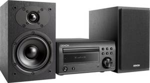 Denon D-M41 Stereoanlage AUX, Bluetooth®, CD, UKW, 2 x 30 W Schwarz