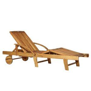 Holz-Gartenliege verstellbar