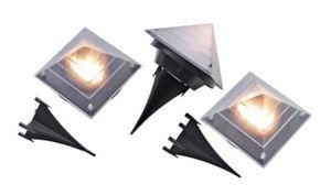 """Solar Bodenleuchten """"Pyramide"""", 3er-Set"""