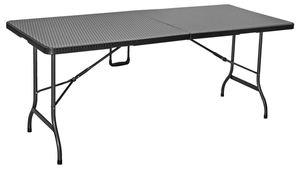 Tarrington House Rattan Bankett Tisch Schwarz