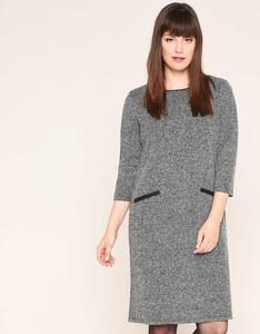 Viventy - Bouclé-Kleid mit Ärmeln in 3/4 Länge