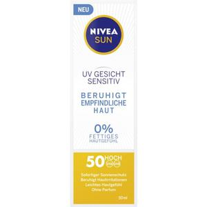 NIVEA SUN UV Gesichtscreme sensitiv 19.98 EUR/100 ml