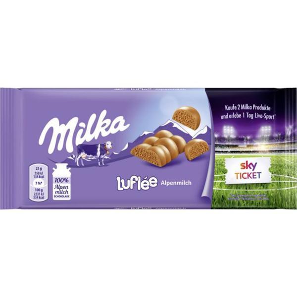 Milka Luflée Alpenmilch Schokolade
