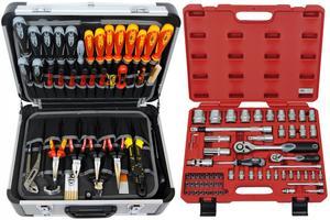 FAMEX 418-20 Alu Werkzeugkoffer Set