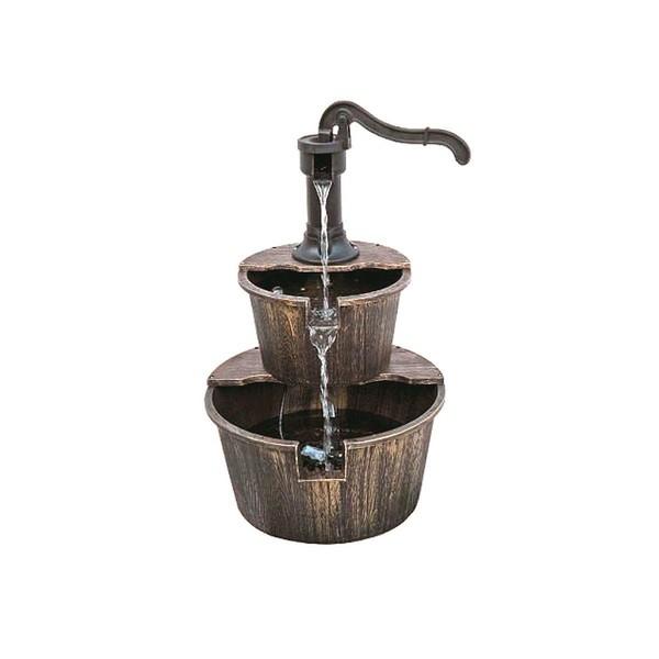 Harms Brunnen THALASSO in Holzoptik