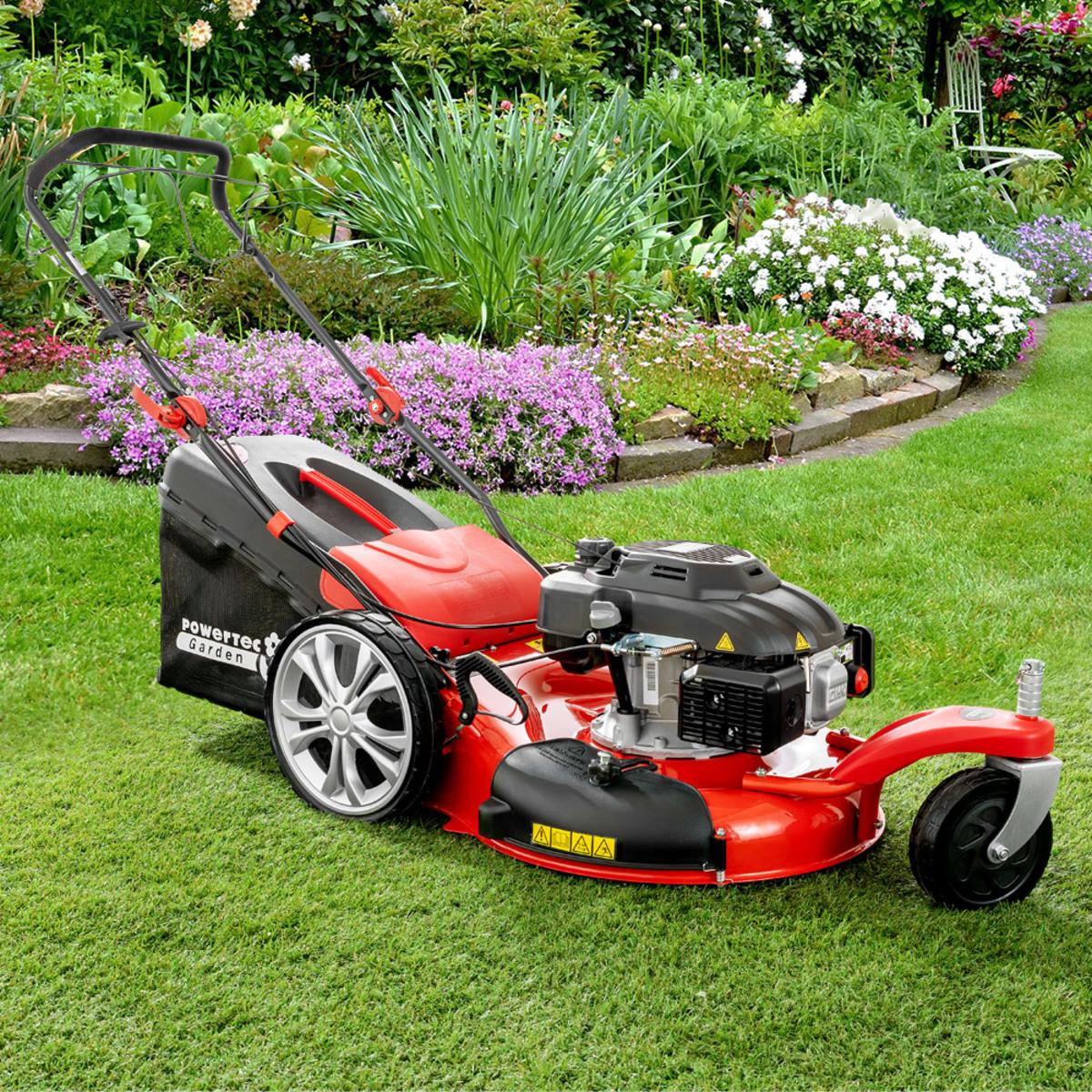Bild 1 von Powertec Garden Benzin-Rasenmäher BW 56 Trike