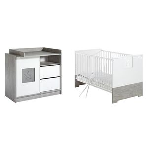 home24 Babyzimmer-Set Eco Star (2-tlg.)