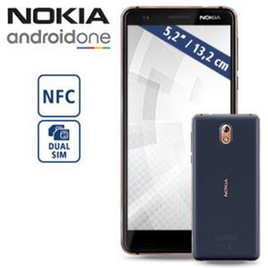Smartphone Nokia 3.1 (2018) · 2 Kameras (8 MP/13 MP) · 2 GB RAM · microSD™-Slot bis zu 128 GB · Android™ 8.1