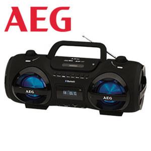 Bluetooth®-Stereo-CD-Radio SR 4359 BT · inkl. Discolicht in 7 Farben · rhythmisch regelbar in 5 versch. Geschwindigkeiten · CD-Player, MP3, PLL-Tuner · 2 Lautsprecher mit passivem Basseffekt ·