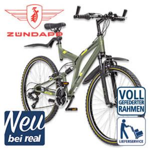 Mountainbike Fully Blue 1.0 - Shimano-Tourney-21-Gang-TY 300-Schaltwerk, Shimano Drehgriffschalter - Alu-V-Bremsen - Rahmenhöhe: 50 cm (26er), 54 cm (28er) - Federgabel