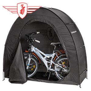 Fahrrad-Garage Stellfläche für bis zu 2 Fahrräder, wetterfest, Maße: ca. 200 x 80 x 167 cm