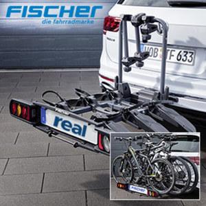 Kupplungs-Fahrradträger ProlineEvo 3 vormontiert, für bis zu 3 E-Bikes geeignet, integierte Rollen für einfachen Transport