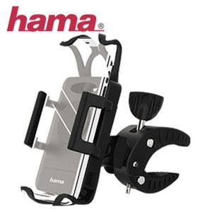 Smartphone-Fahrradhalterung · Blickwinkel per Kugelgelenk einstellbar · bewegliche Haltebacken und Spanngummi · Lenkstangen bis 30 mm Ø