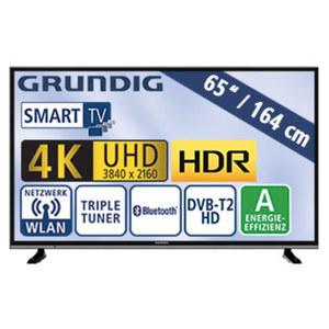 "65""-Ultra-HD-LED-TV 65 VLX 600 • HbbTV • 4 HDMI-/2 USB-Anschlüsse, USB 3.0, CI+ • Stand-by: 0,4 Watt, Betrieb: 151,0 Watt • Maße: H 85,7 x B 146,6 x T 7,8 cm • Energie-Effizienz A (Spek"