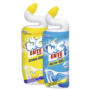 WC Ente WC Aktiv-Gel 750 ml versch. Sorten, jede Flasche, nach Rabatt-Abzug beim Kauf von 4 Stück