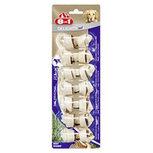 8in1 Delights Kauknochen Hunde-Snack versch. Sorten, jede 84-g-Packung