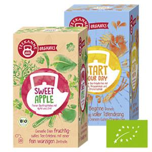Teekanne ORGANICS Früchte und Kräutertee versch. Sorten, jede 20er=36-g-Aufgußbeutel-Packung