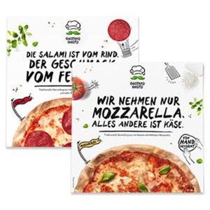 Gustavo Gusto Pizza versch. Sorten, gefroren,  jede 410/460-g-Packung