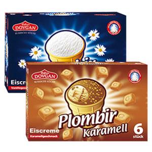 Eiscreme Plombir Original oder Karamell jede 780/720-ml-Packung und weitere Sorten