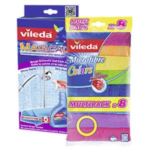 Vileda Allzwecktuch Microfaser Colors 8er oder Magical Set, jede Packung