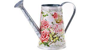 Zink-Kanne mit Rosendekor