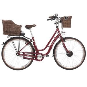 """Fischer E-Bike City Retro Damen 28"""" ER 1804 in bordeauxrot"""
