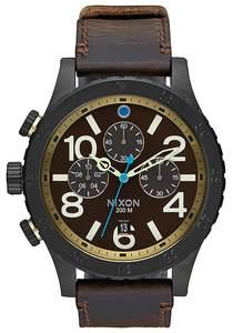NIXON 48-20 Chrono Lthr - Uhr für Herren - Braun