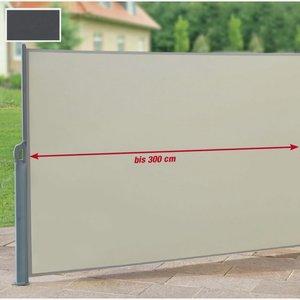 Seitenmarkise anthrazit 600 x 160 cm