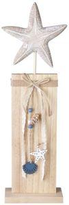Standdeko - Seestern - aus Holz - 13 x 6 x 44 cm