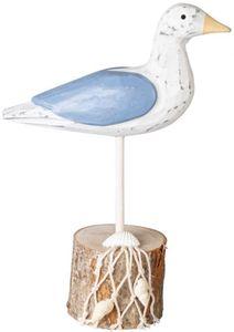 Deko-Möwe - aus Holz - 15 x 6,5 x 20 cm