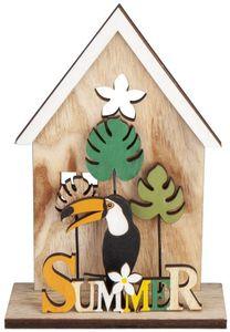 Standdeko - Haus - aus Holz - 13 x 5 x 19 cm