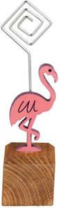 Notizhalter - Flamingo - aus Holz - 3,5 x 3,5 x 14 cm