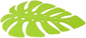 Platzmatte - Blatt - aus Filz - 28 x 30 cm
