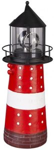 Solar-Leuchtturm - aus Metall - 15 x 15 x 40 cm