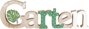Deko-Schriftzug - Garten - aus Holz - 36 x 2 x 11 cm