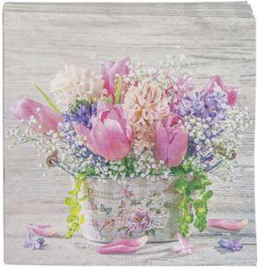 Servietten - Frühlingsblumen - 33 x 33 cm - 20 Stück