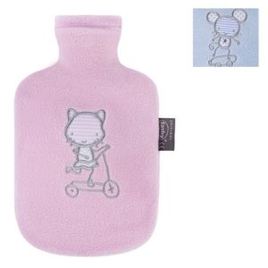 Kinder-Wärmflasche mit Fleecebezug - 0,8 L - 1 Stück