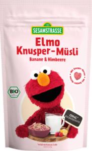 Sesamstraße Müsli Elmo Knusper-Müsli Banane & Himbeere ab 1 Jahr