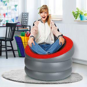 EASYmaxx Sessel aufblasbar schwarz/anthrazit