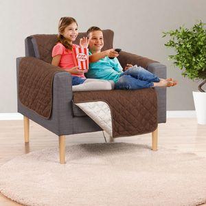 EASYmaxx Sofaüberzug Couch Coat Sessel 180x170cm braun/beige