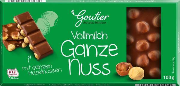 Schokoliebe Vollmilch Nuss Schokolade Goutier 100 g