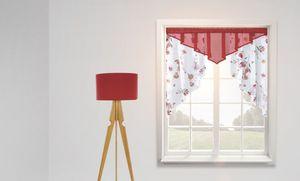 Dekor Fensterschal, kombi bordeaux