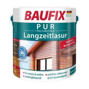 BAUFIX PUR Langzeitlasur, teak, 2,5 L