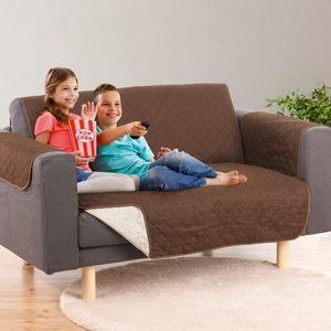 EASYmaxx Sofaüberzug Couch Coat 2-Sitzer 180x240cm braun/beige