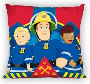 Kinder Kissen - Feuerwehrmann Sam mit Truppe - rot