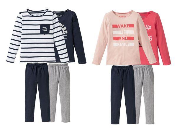 PEPPERTS® 2 Kinder Mädchen Pyjamas