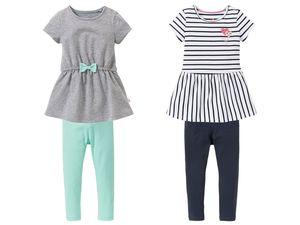 LUPILU® Kleinkinder Mädchen Kleid und Leggings
